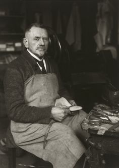 August Sander. Master Shoemaker. c. 1924