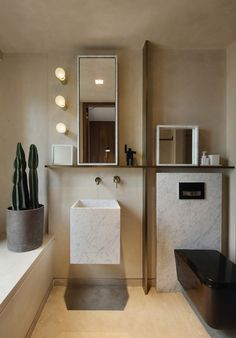 The Perfect Of Minimal Interior Design for Bathroom Decor (Modern, Classic, And Transitional 57 Modern Bathroom Decor, Modern Bathroom Design, Bathroom Interior Design, Small Bathroom, Bathroom Ideas, Bathroom Remodeling, Master Bathroom, Bathroom Vanities, Rustic Bathrooms