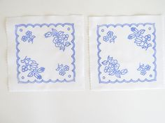 2 Kalocsa square doilies pattern print from Hungary New 6 1/4'' x 6 1/4'' z in Collectibles, Linens & Textiles (1930-Now), Lace, Crochet & Doilies   eBay