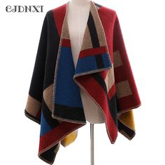 Wool Oversized Sweaters Winter Cashmere Plaid knitted Cardigans Poncho y Capa Mujer Women Fashion Red Cape Cloak Shawl Blanket. Yesterday's price: US $21.56 (17.56 EUR). Today's price: US $21.56 (17.67 EUR). Discount: 56%.