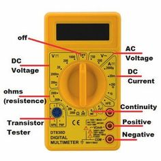 How to Use a Multimeter Basics: 8 StepsYou can find Electrical wiring and more on our website.How to Use a Multimeter Basics: 8 Steps Basic Electrical Wiring, Electrical Circuit Diagram, Electrical Projects, Electrical Installation, Electrical Tester, Electronic Engineering, Electrical Engineering, Engineering Tools, Chemical Engineering