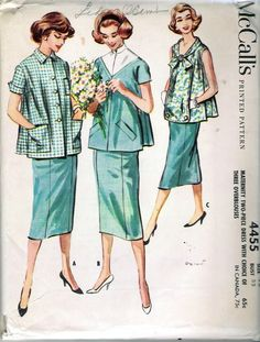 Hey, I found this really awesome Etsy listing at https://www.etsy.com/listing/174698366/vintage-1958-mccalls-4455-maternity-two