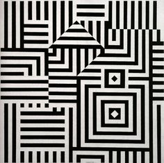 Victor vasarely. Awesome template because square but edges reconnect. Also love how the face of one form Becomes the face of another conflicting form.