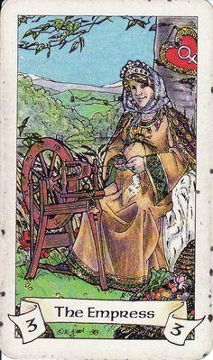 The Empress, from the Robin Wood Tarot http://www.life-plan-blog.com/2014/10/27/todays-tarot-creating/
