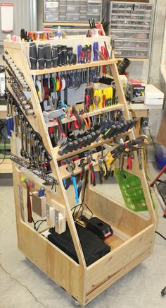 Tool Rack by revwarguy - This is my take on Adam Savage's F. All in all, its a really great addition to the shop. Garage Tool Organization, Garage Tool Storage, Workshop Storage, Workshop Organization, Garage Tools, Diy Storage, Woodworking Shop Layout, Woodworking Projects Diy, Welding Projects