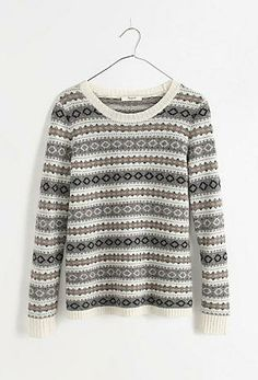 Madewell modern Fair Isle sweater.