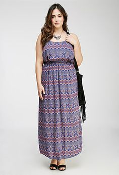 Strappy Tribal Print Maxi Dress | Forever21 Plus - 2000082193