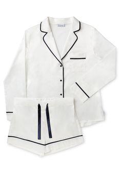 Lazewear Blanc White Short Pyjama Set £49 size small
