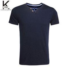 Slim Fit - 2 Button Neck T-Shirt - 5 Colors - M - XXXL