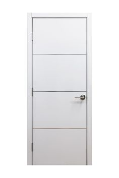 215 Mialn Modern Interior Door White High Gloss Laminate Finish W Aluminum Strip Design Price