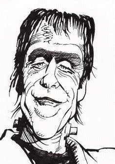 Herman Munster by Mort Drucker (Mad magazine) Cartoon As Anime, Cartoon Kunst, Cartoon Faces, Cartoon Art, Munsters Tv Show, The Munsters, Funny Caricatures, Celebrity Caricatures, Art Drawings Sketches