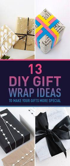 13 DIY Gift Wrap Ide