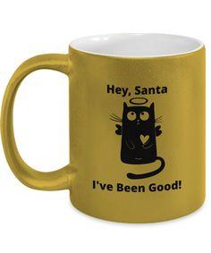 Gift Mugs, Gifts In A Mug, Novelty Gifts, Metallic Gold, Santa, Xmas, Good Things, Tableware, Prints