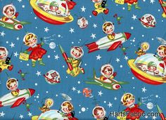 Retro Fabric Rocket Rascals