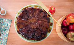 Tarte Tatin - A torta tem a massa crocante e maçãs caramelizadas