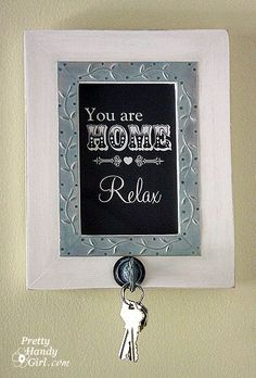 Photo Frame to Key Hook from PrettyHandyGirl.