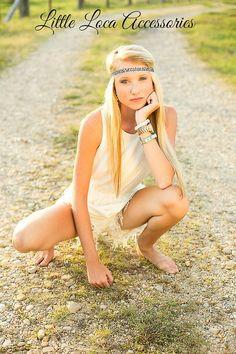 Bohemian hippie Boho Halo headband Crown  Adult by LittleLocaTutus, $4.00