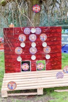 This easy DIY Target Range is perfect for kids who love NERF guns and want to practice their shooting skills! Also great for an epic NERF themed birthday party. Get details and more NERF party inspiration now at fernandmaple.com!