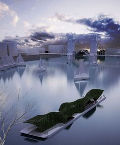 london floating gallery OFL architecture + fueralab