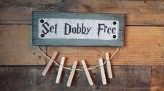 Super adorable sign for all Harry Potter fans! Pin up un-matched socks until you find their mate, or just keep socks hanging on it for fun decor!