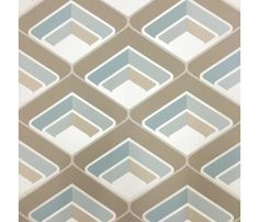 GRANDECO A16002 GEOMETRIC TEAL BROWN RETRO WALLPAPER geometric,retro,teal,brown,wallpaper