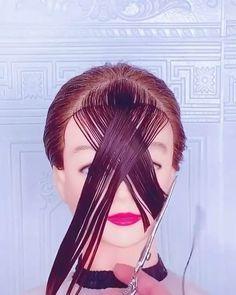 Hair Cutting Videos, Hair Cutting Techniques, Hair Videos, Hairdo For Long Hair, Easy Hairstyles For Long Hair, Diy Hairstyles, Front Hair Styles, Curly Hair Styles, Easy And Beautiful Hairstyles