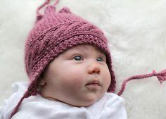 Design by Marte Helgetun - Design by Marte Helgetun Bonnets, Baby Knitting, Children, Kids, Winter Hats, Unisex, Crochet, Crafts, Inspiration