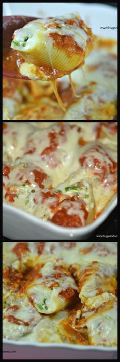 Stuffed shells are reminiscent of my childhood. Always a delicious and comforting meal. Now, with the addition of sausage they are even fancier and a perfect weeknight meal! Try some Stuffed Shells with Sausage Filling for Casserole Recipes, Pasta Recipes, Dinner Recipes, Cooking Recipes, Healthy Recipes, Meat Recipes, Healthy Meals, Dinner Ideas, Healthy Food
