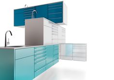 Dental surgery and laboratory furniture Dental Surgery, Dental Implants, Dental Office Design, Dental Offices, Art Cabinet, Dental Art, Dental Crowns, Clinic Design, Office Cabinets