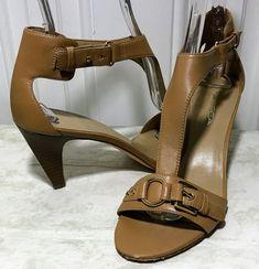 1dac012ed Via Spiga Leather Strappy Sandals Size 8M Nude Euro 39 Goldtone Hardware