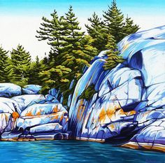 Landscape Paintings and photographs : Margarethe Vanderpas Fine Artist Killarney Ontario Watercolor Landscape, Landscape Art, Landscape Paintings, Watercolor Artists, Acrylic Paintings, Oil Paintings, Original Paintings, Canadian Artists, Canadian Painters