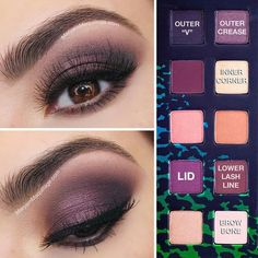 How to create a purple smokey eye and how to save on the beauty products