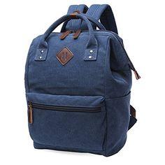 Oflamn Rucksack Damen Herren, Vintage Daypack Laptopfach für Uni, Arbeit, Reise Material: Der Rucksack besteht aus hochqualitativem Canvas Stoff(16oz) für eine gute Haltbarkeit und Langlebigkeit bei minimalem Gewicht. Baumwollfutter, PU-Leder-Schnalle. Die Schulterriemen lassen sich leicht in der Länge einstellen. Größe: 25 x 19 x 36 cm(L*B*H).Das Staufach für Notebooks ist für Geräte...