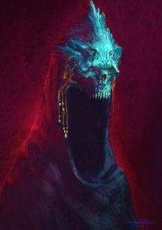 scifi-fantasy-horror: King of Depression by MitchGrave Dark Fantasy Art, Fantasy Rpg, Dark Art, Monster Art, Monster Concept Art, Monster Design, Dark Creatures, Fantasy Creatures, Creature Concept Art