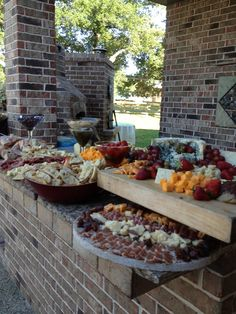 the anti pasta appetizer bar created by Party Thyme Catering