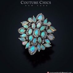 #Gemstone #Opal #Cocktail #Ring #Sterling #Silver #Pave #Diamond #14k #Gold #Jewelry Visit our eBay Store :- http://stores.ebay.com/couturechics-jewels Write us an email on :- couturechics01@gmail.com