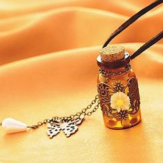 Wishing Bottle Flower Butterfly Pendant Necklace Leather Sweater Chain Collar #ebay #Fashion