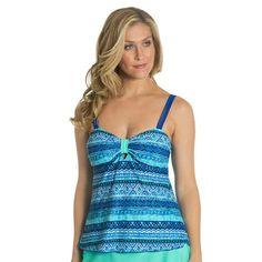 875a9f271887 Beach Diva Womens Mozambique Channel Babydoll Tankini  Shopko Designer  Swimwear