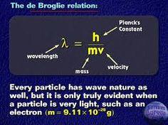 de broglie equation