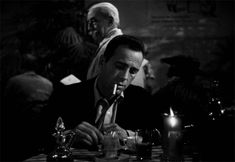 wehadfacesthen:  Humphrey Bogart in To Have and Have Not (Howard Hawks, 1944)