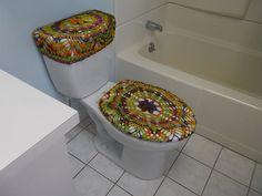 Crochet baño tanque tapa cubierta fibra de la mezcla por ytang