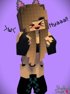 Minecraft Anime Girls, Minecraft Comics, Minecraft Drawings, Skins Minecraft, Minecraft Art, Minecraft Designs, Female Samurai, Ahegao, Anime Furry