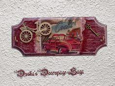Duska's Decoupage Saga Vintage Key Holder