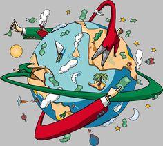 #globalizzazione #stilizzata #soldi #world