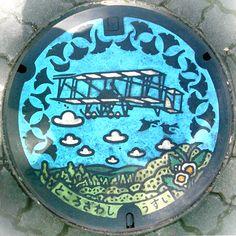 Manhole cover Tokorozawa colored - Manhole cover - Wikipedia