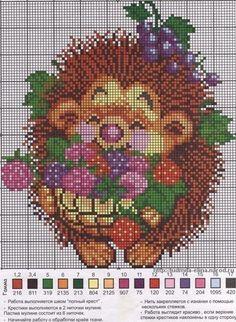 Симпатичные ёжики - вышиваем крестиком