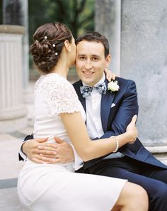 Elegant bridal hairstye with braids
