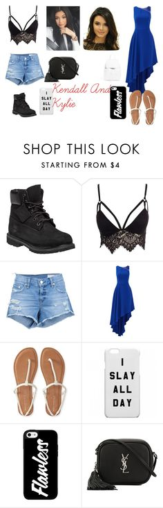 """""""kendall and kylie jenner"""" by emojiqveen on Polyvore featuring Timberland, Club L, rag & bone/JEAN, Halston Heritage, Aéropostale, Yves Saint Laurent and Mansur Gavriel"""