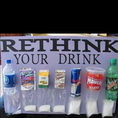 Always wanted to see visually how much sugar is in our drinks. Makes you think!