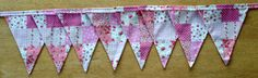 Pink Patchwork Effect Fabric Bunting by MollyFelicityDesigns, £10.00